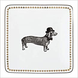 Alice Scott Dapper Dachshund Trinket Tray