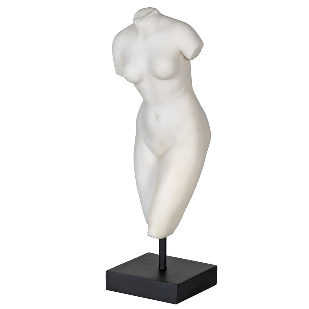 Faux Marble Female Torso