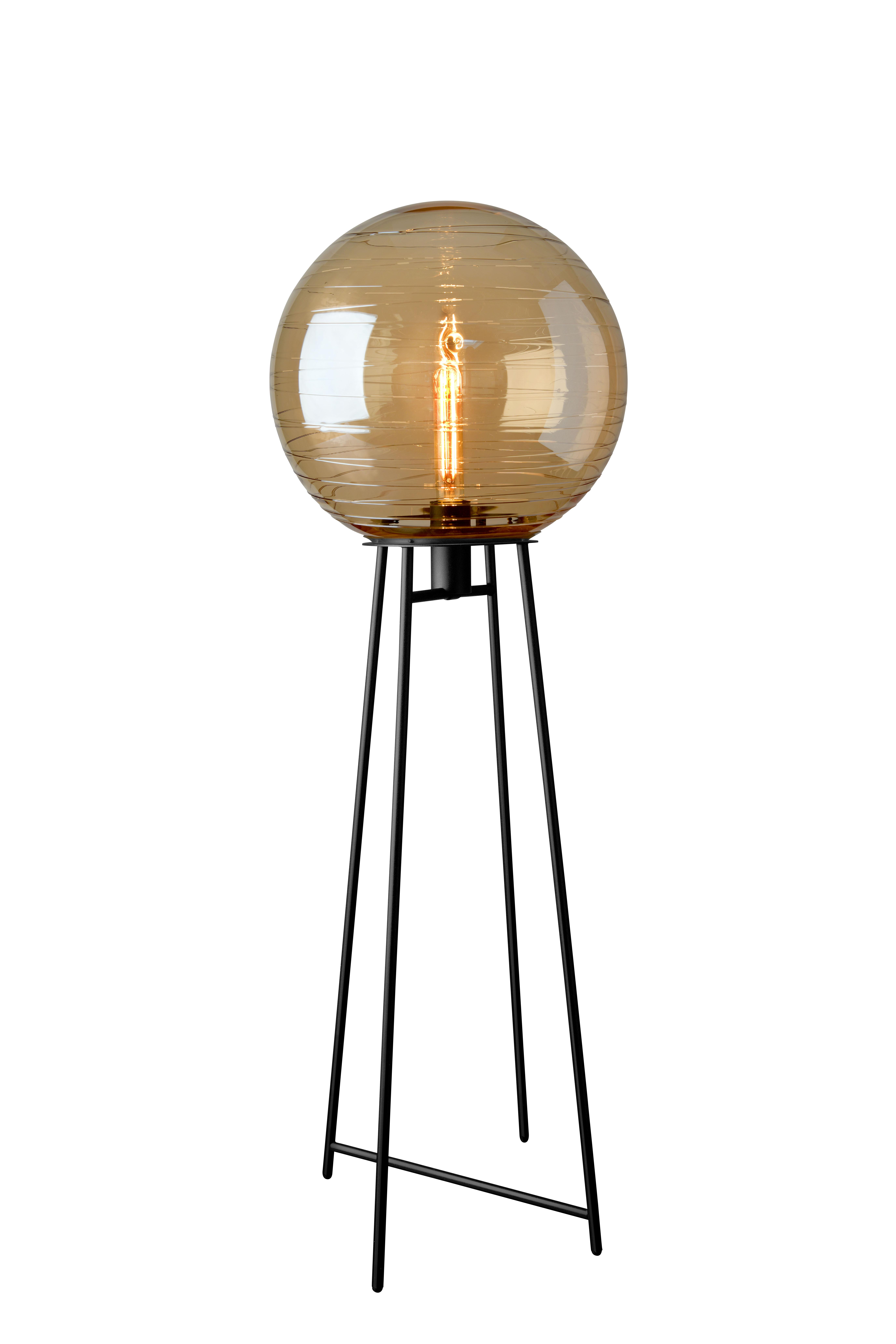 Orbit Amber Floor Lamp