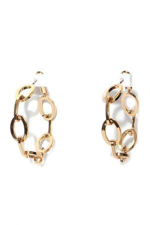 Gold Chunky Chain Earings