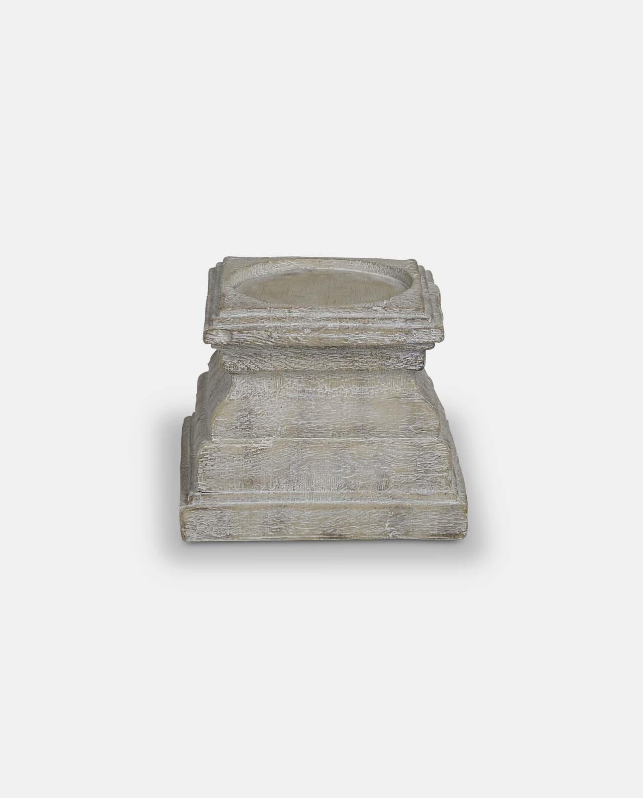 White Vintage Candle Plinth