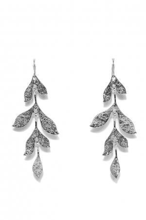 Long Drop Silver Earrings