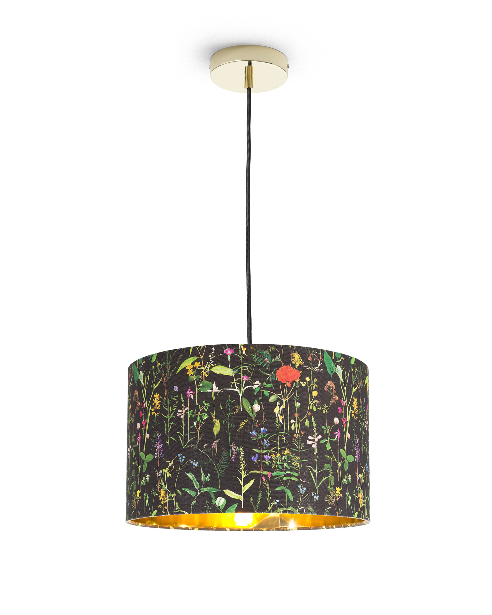 AQUAFLEUR Anthracite Pendant Light 35cm x 22cm