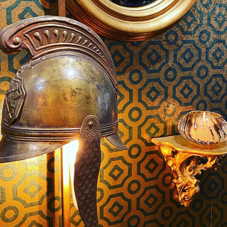 Pair of 19th Century Helmet Lamps