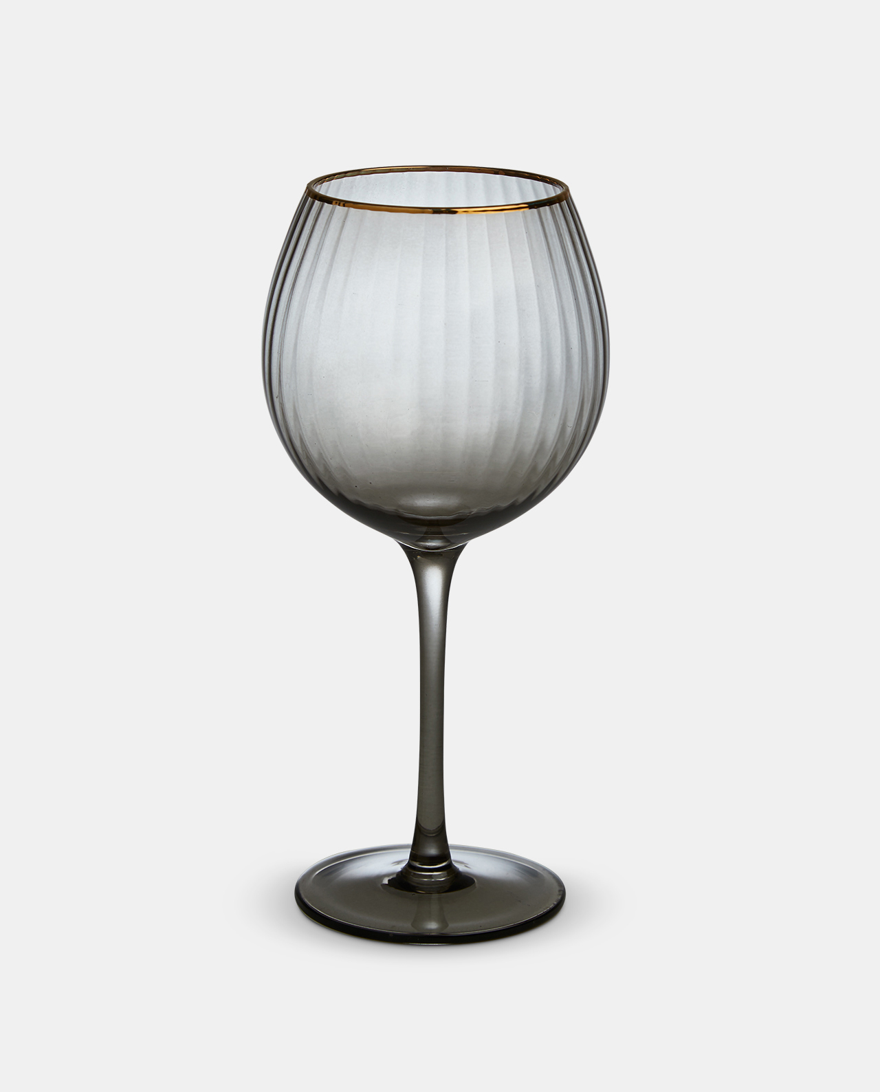 Italia Smoked Wine Glass Goblet