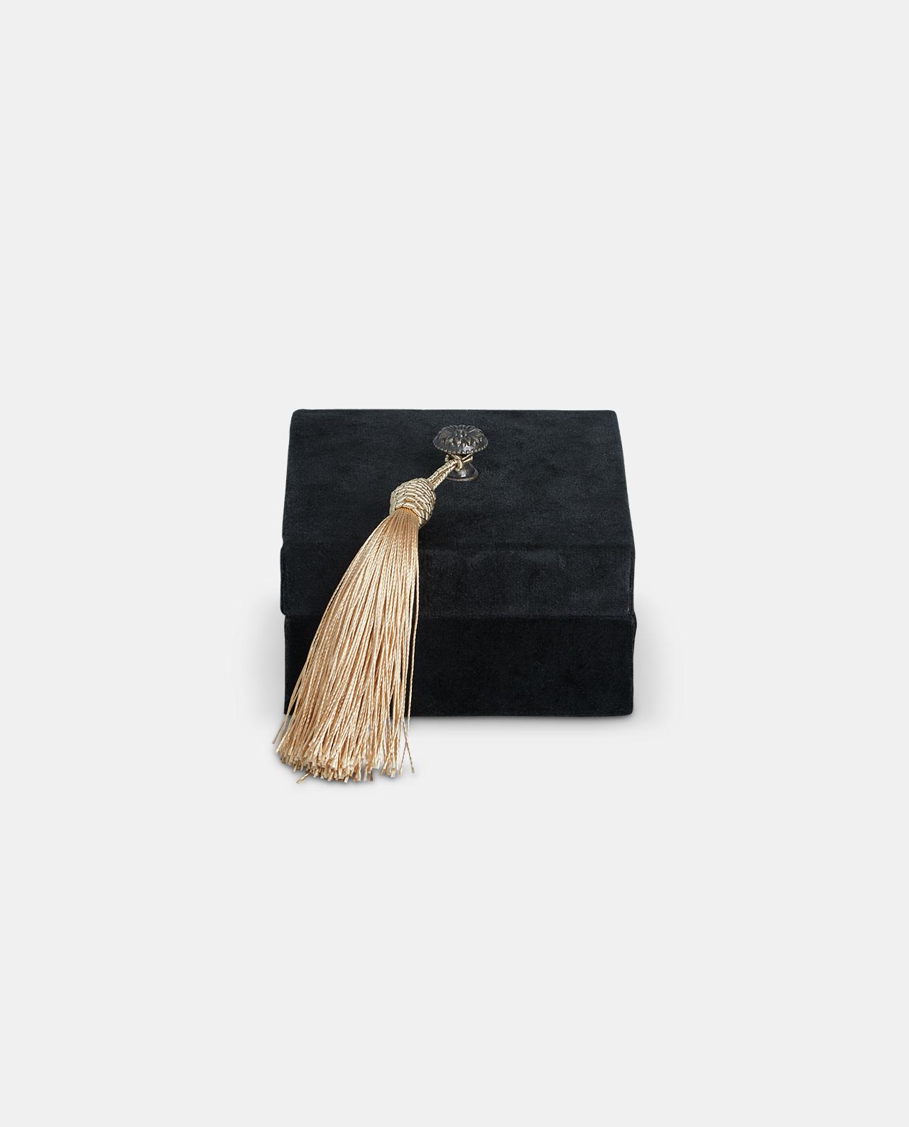 Small Black Velvet Decorative Box