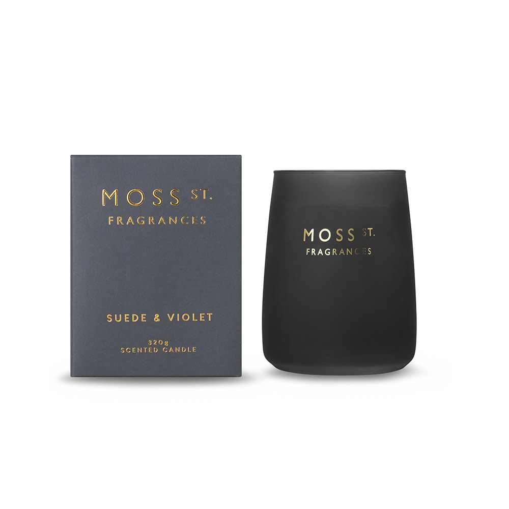 Moss St Suede & Velvet Candle