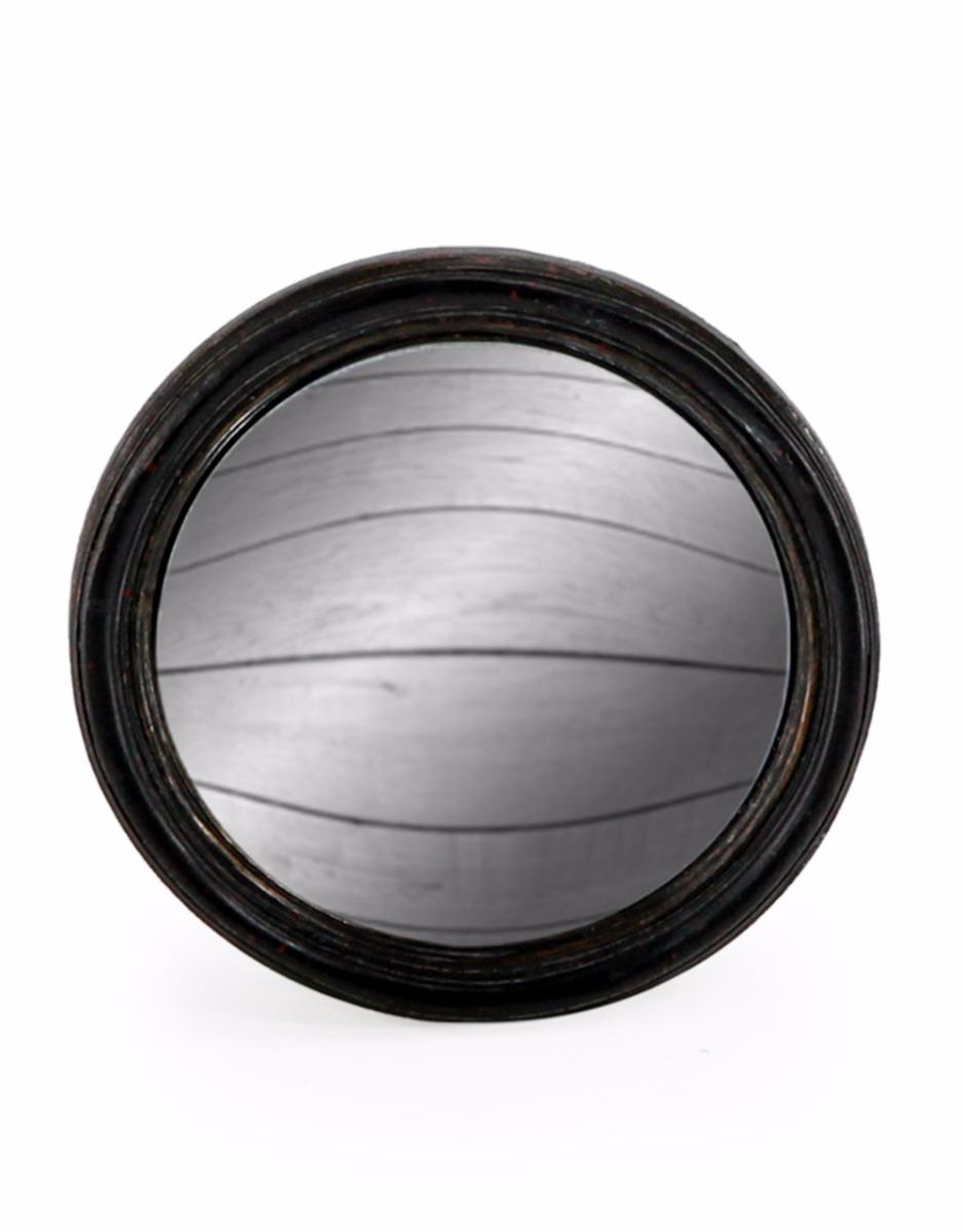 Black Thin Framed Convex Mirror Small