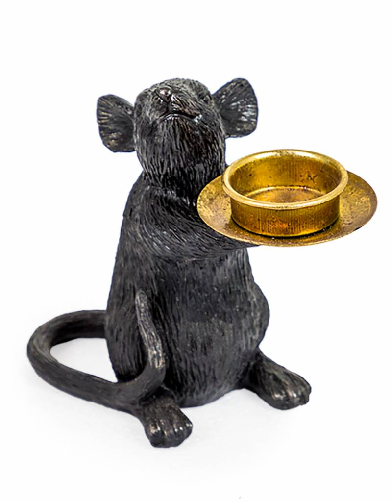 Black Mouse Tea Light Holder
