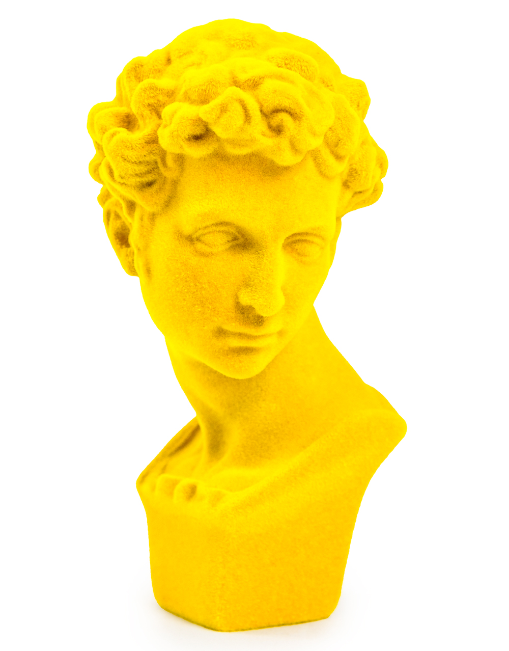 Bright Yellow Flock Classic Bust Figure