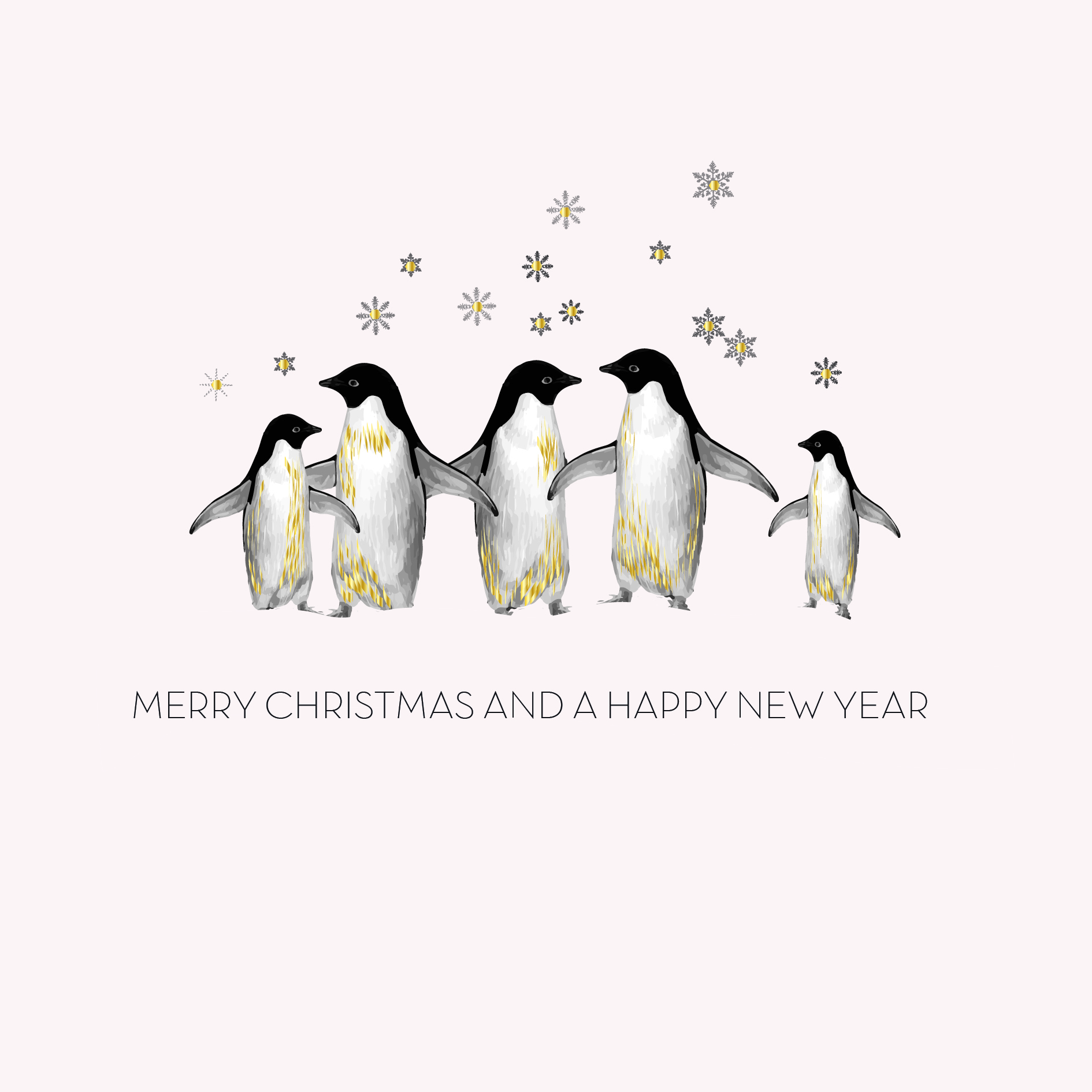 Box of 6 Penguin Christmas Cards