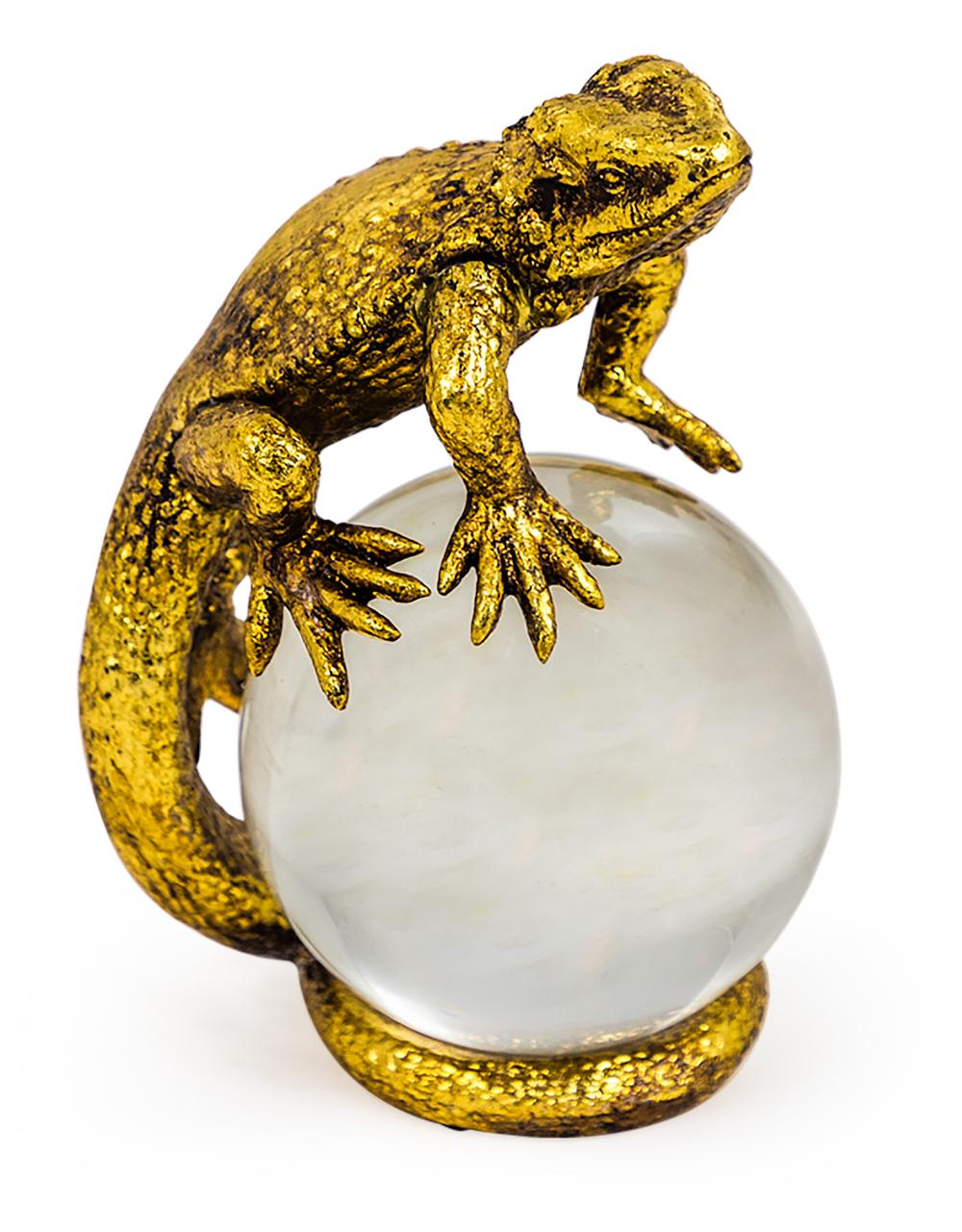 Gold Lizard Crystal Ball