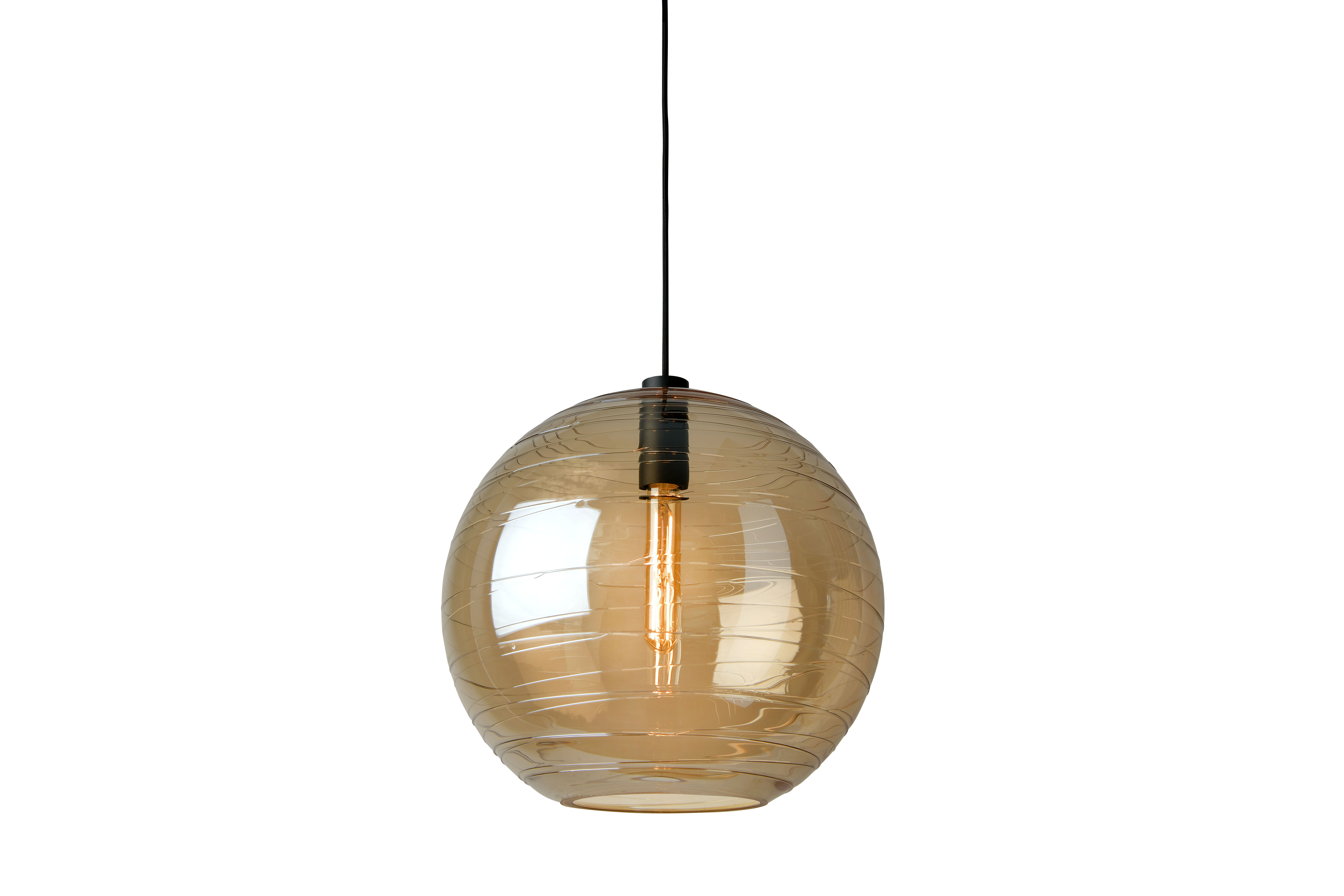 Orbit Amber Pendant Light