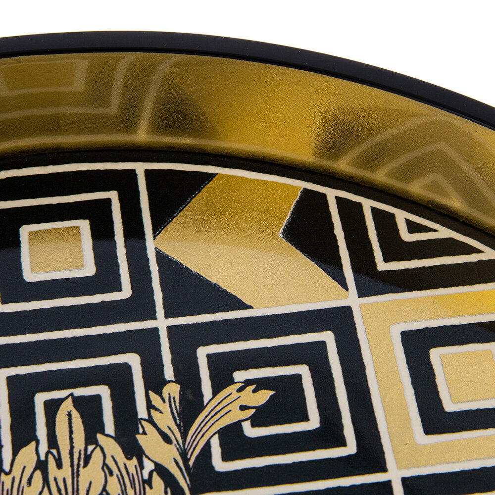 Christian Lacroix Atout Couer Round Lacquer Tray