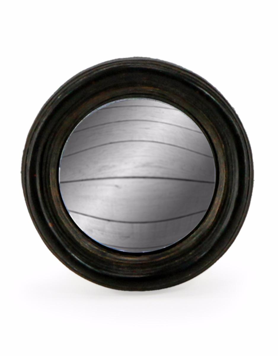 Extra Small Black Framed Convex Mirrror