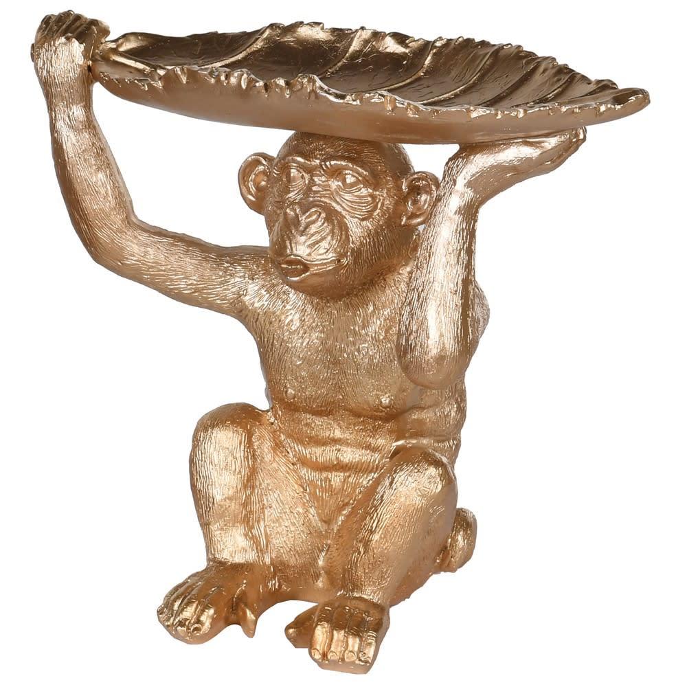Gold Monkey Leaf Dish