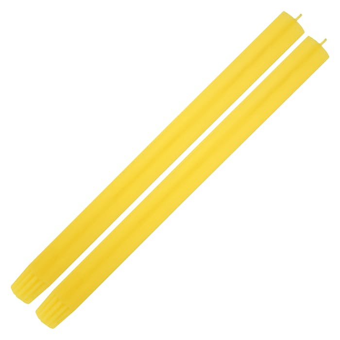 Single Yellow Dinner Candle