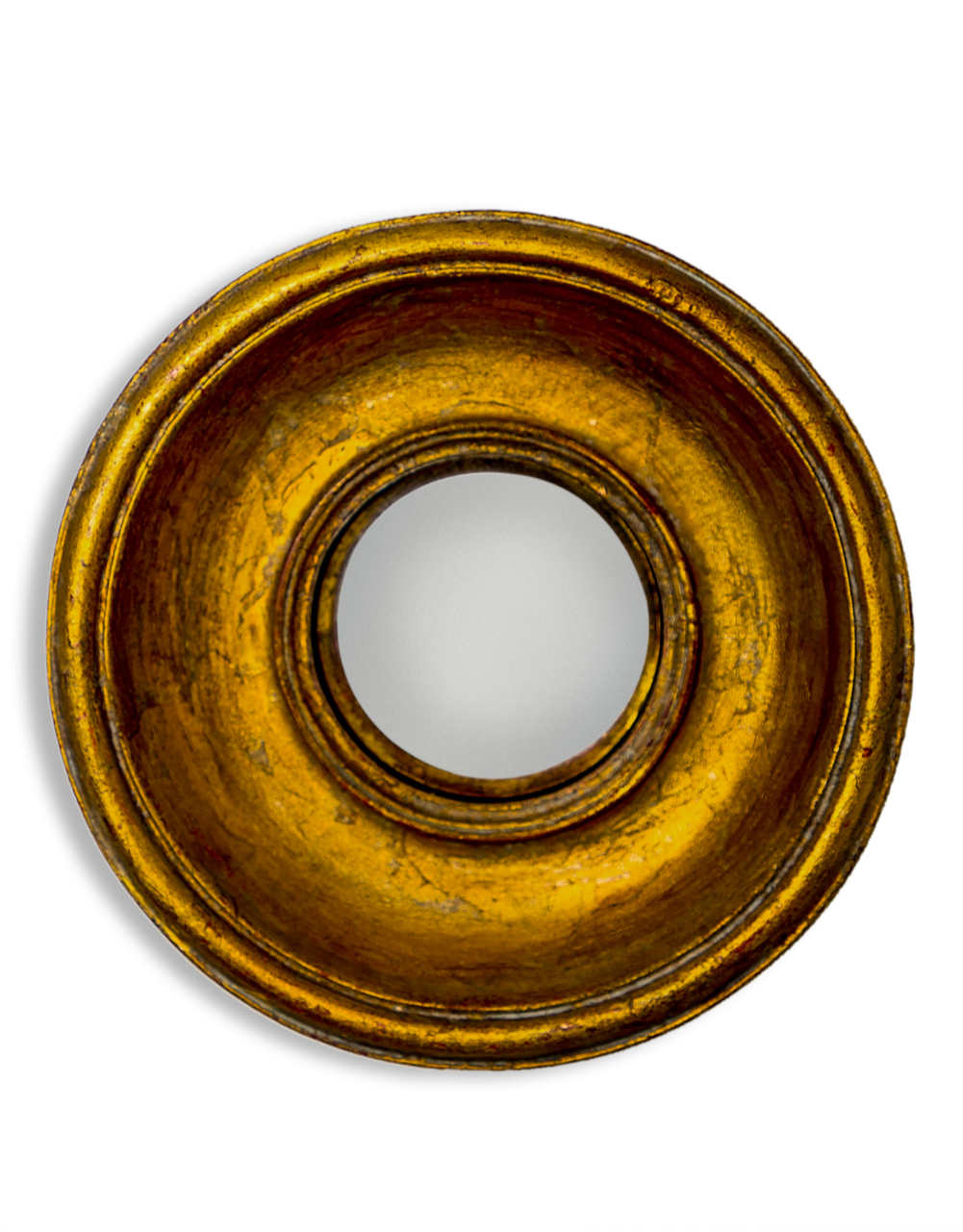Gold Deep Framed Extra Small Convex Mirror