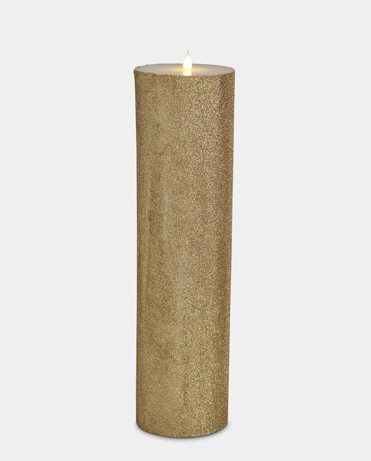 Gold Glitter LED Candle