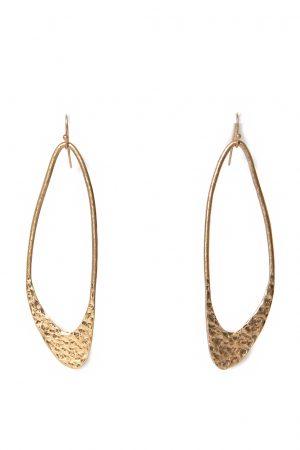 Gold Beaten Drop Earings