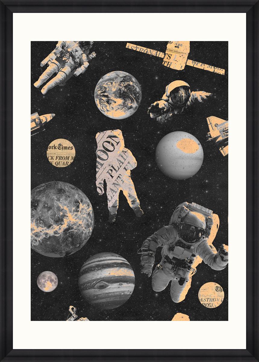 ASTRONAUTS Framed Print