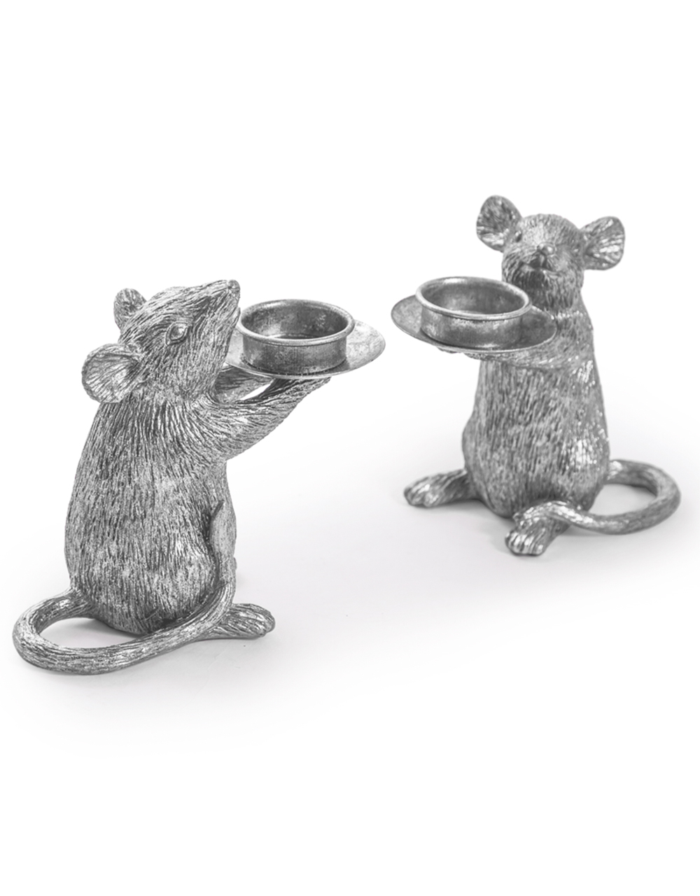 Silver Mouse Candle Holder