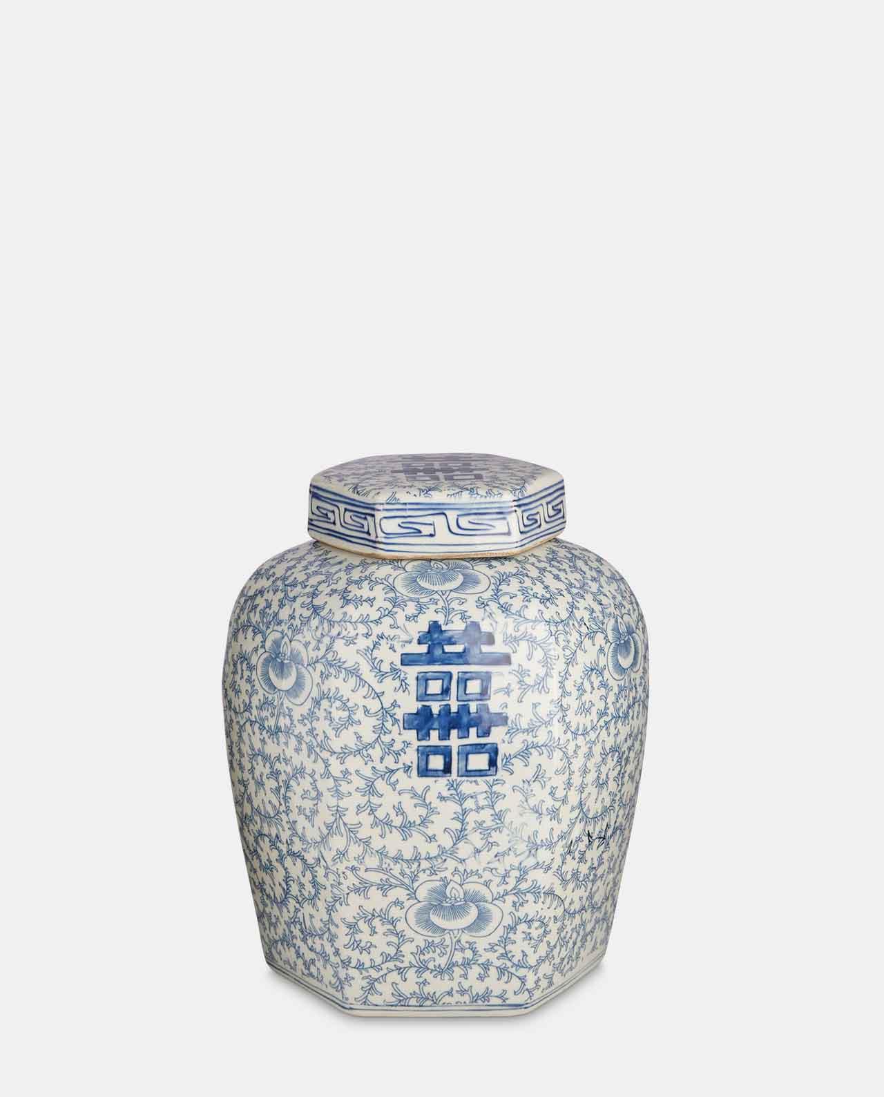 Blue & White Porcelain Jar No 1