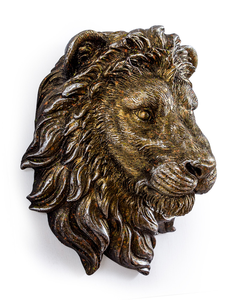 Small Antique Effect Lion Head