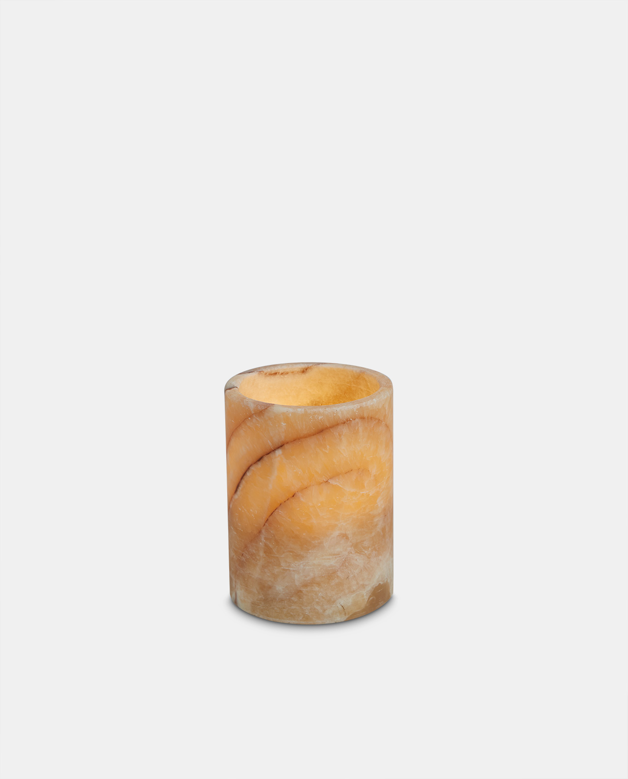 Marble LED Candle 12cm