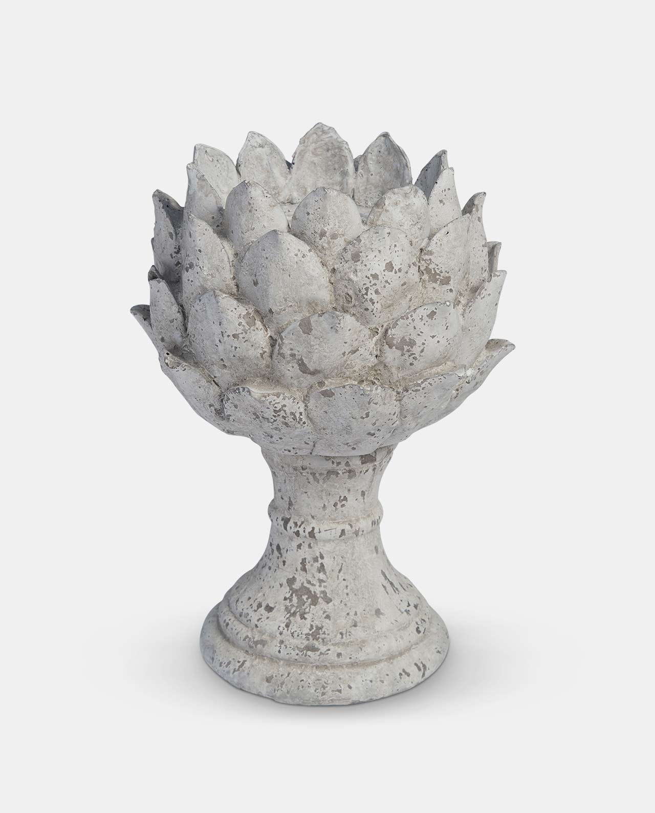 Stone Floral Candle Holder Xtra Large