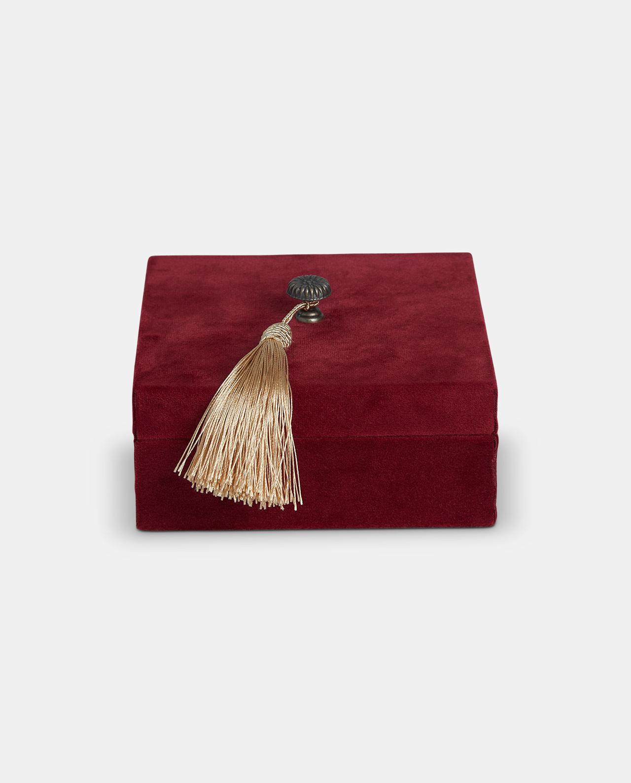 Large Red Velvet Decorative Box