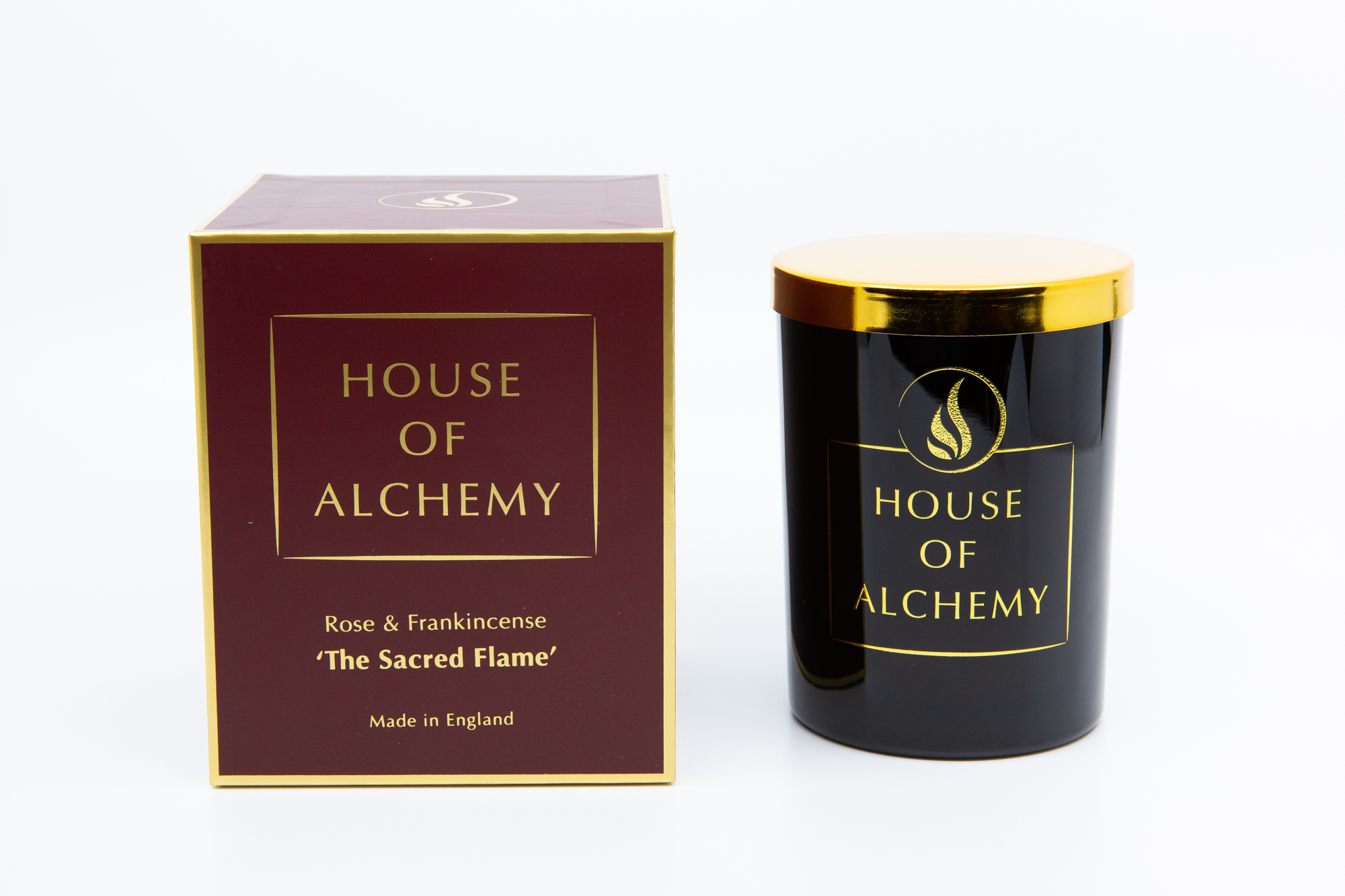 Sacred Flame 250g Rose & Frankincense Candle