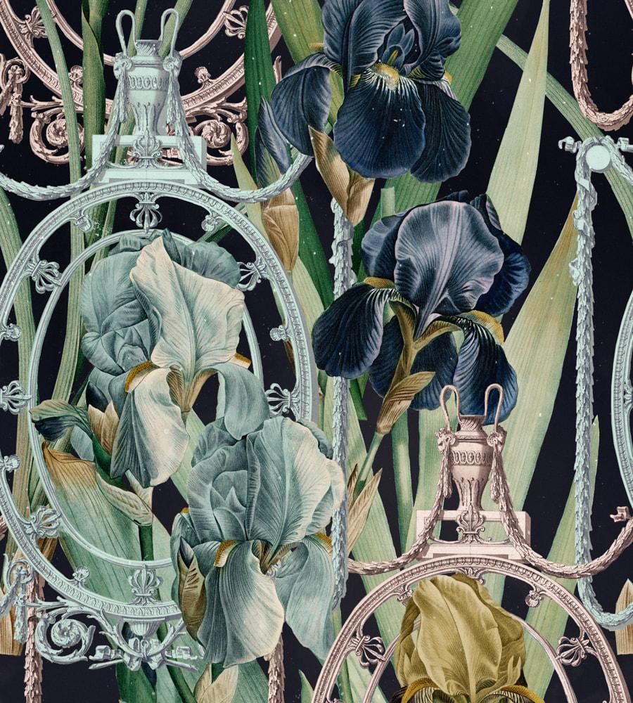 FLEURS D'IRIS Wallpaper