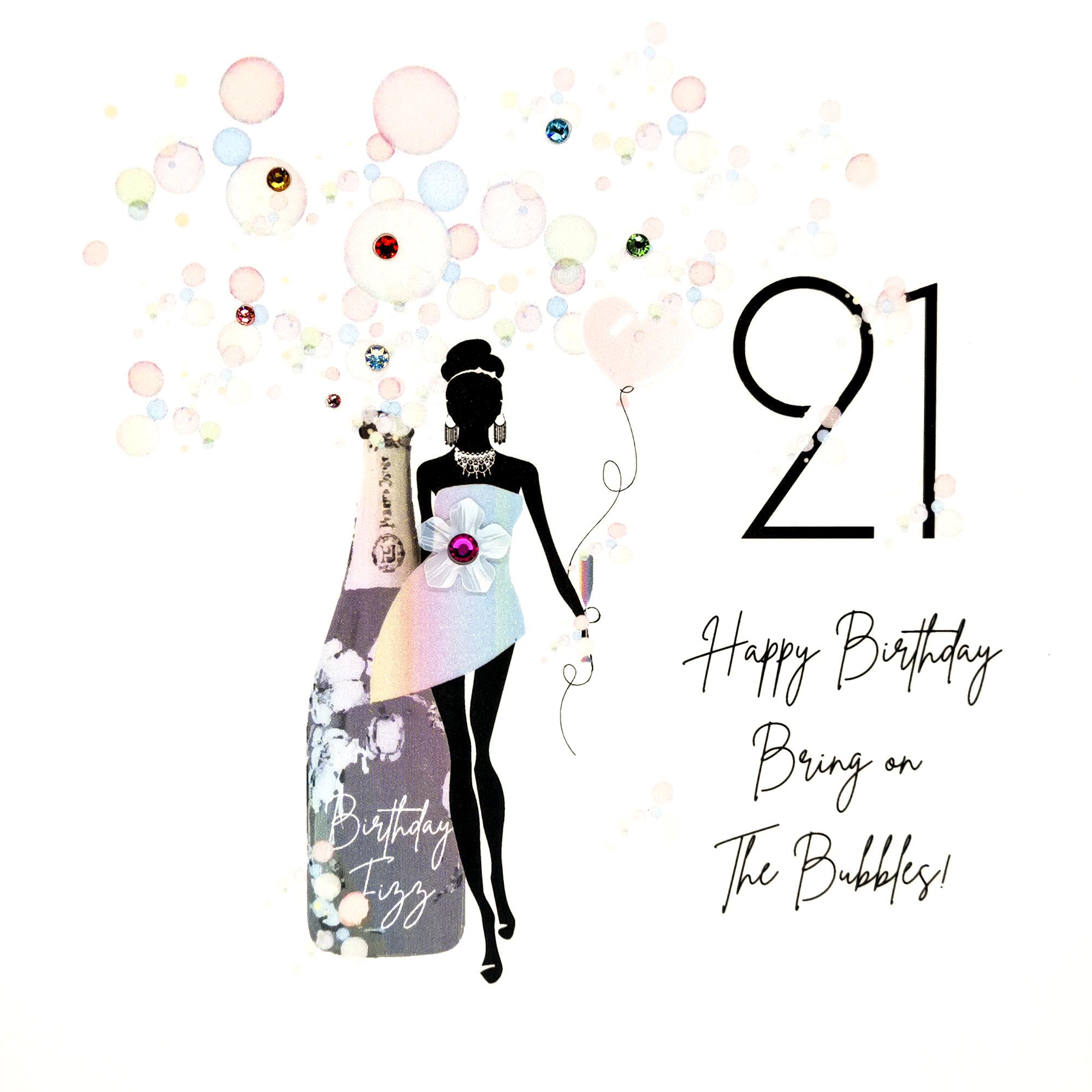 21st Birthday Bubbles