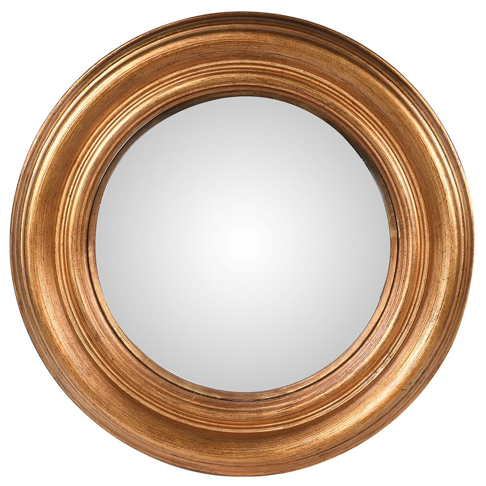 Atman Large Gold Convex Mirror