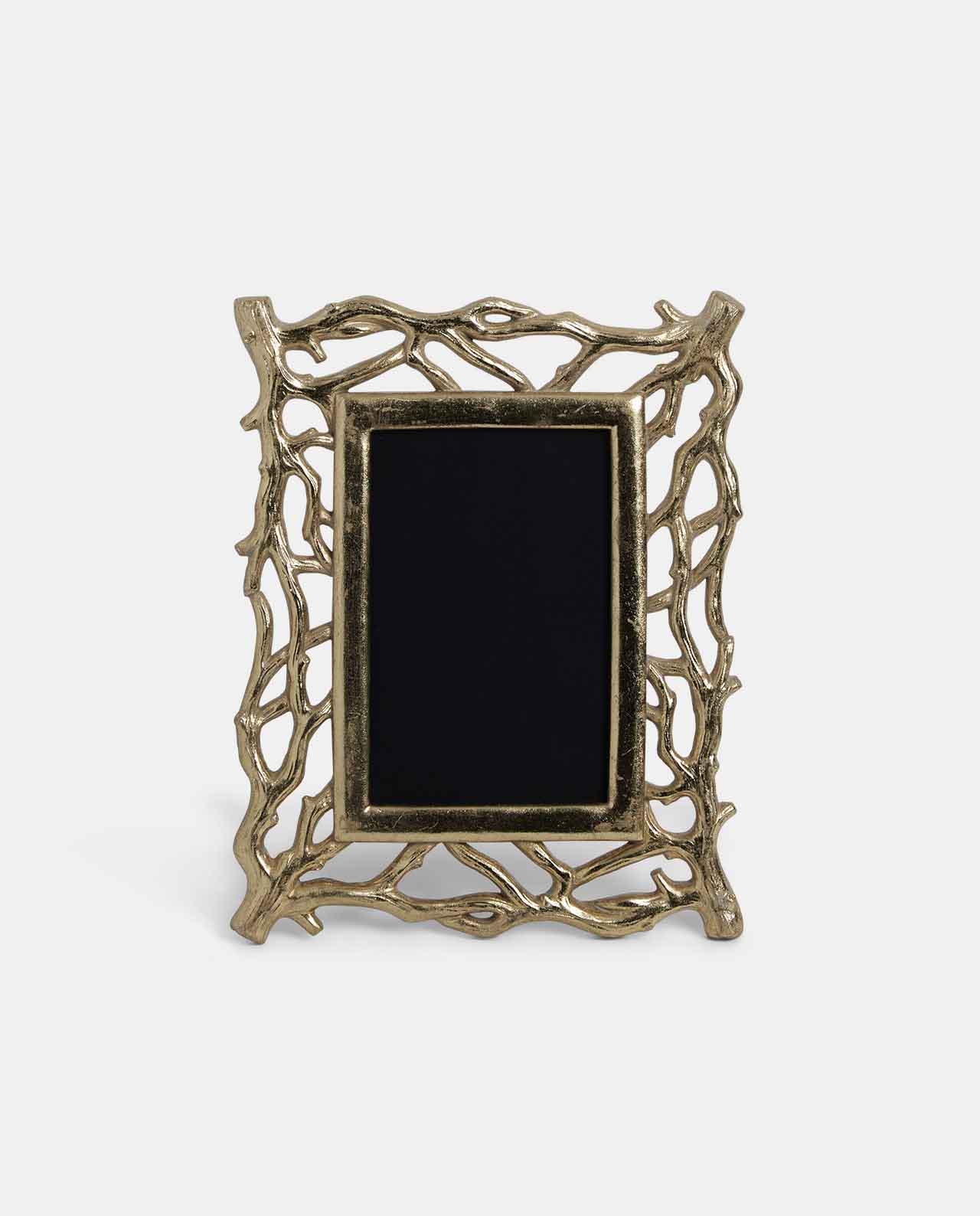Small Gold Decoratorative Twig Photo Frame