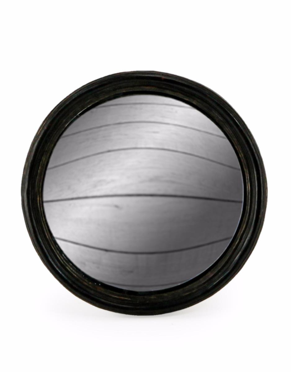 Black Thin Framed Convex Mirror Medium