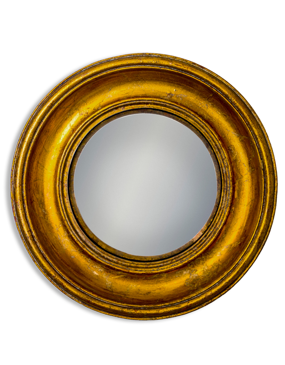 Gold Deep Framed Medium Convex Mirror