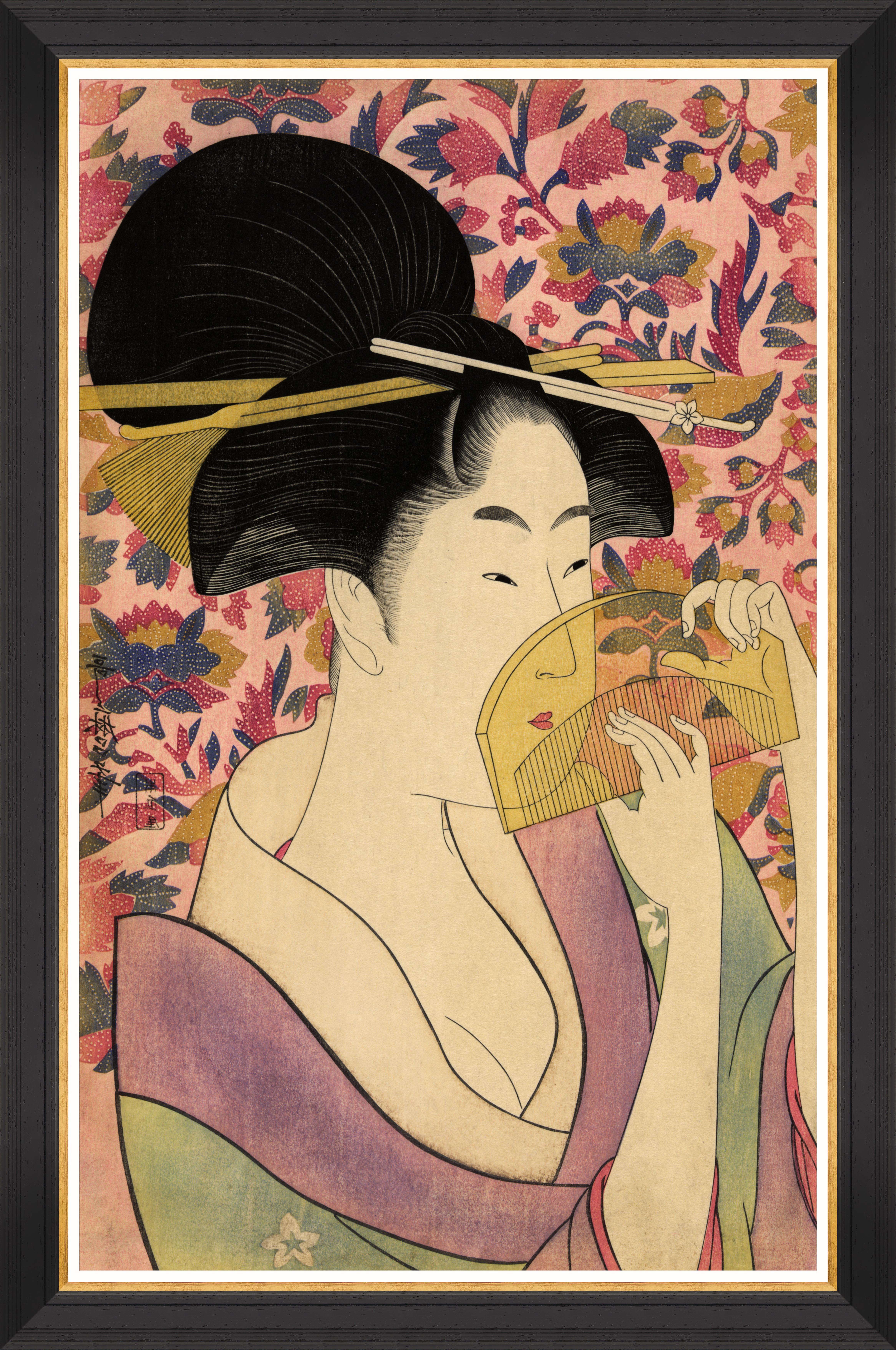 KUSHI BY KITAGAWA UTAMARO Framed Print