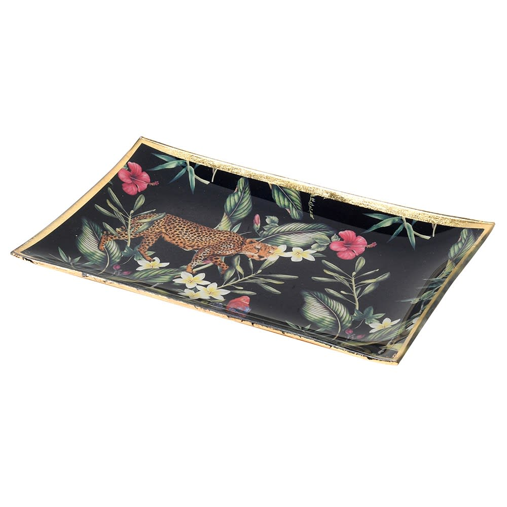 Leopard Jungle Trinket Tray