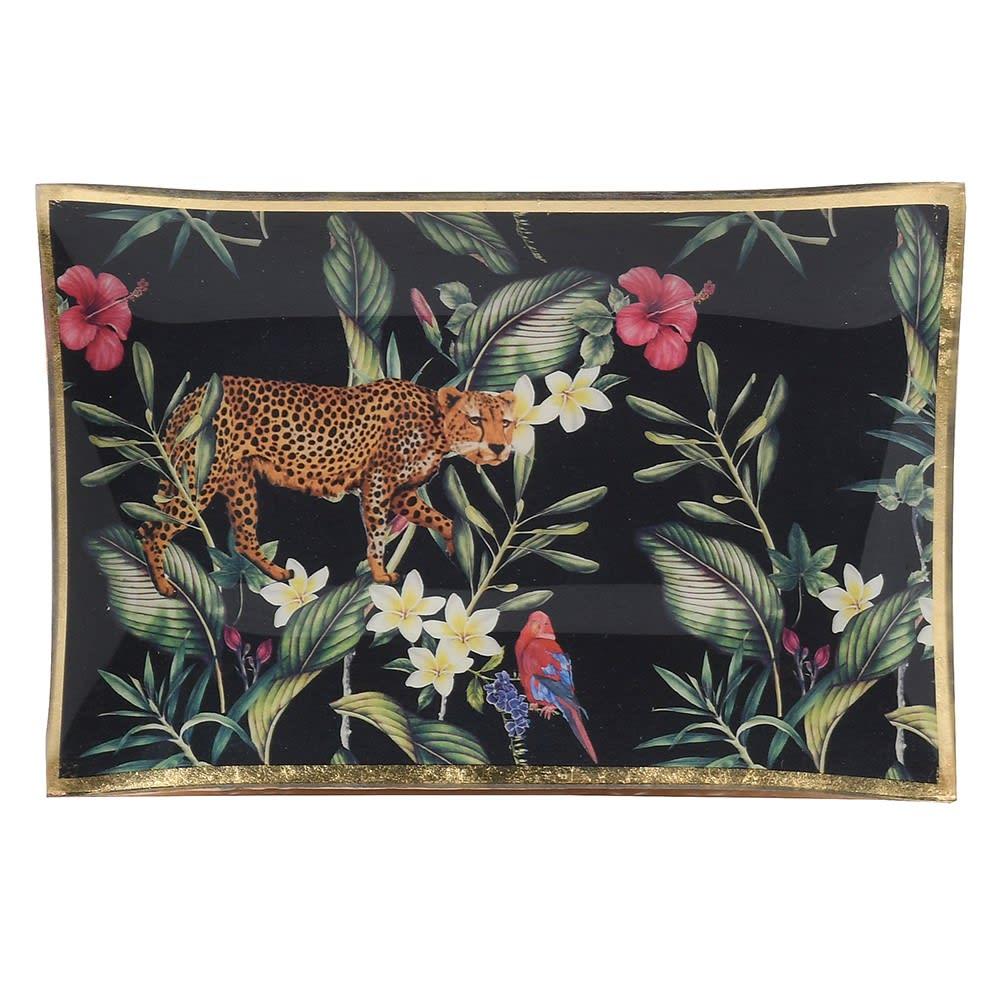 Leopard Jungle Trinket Tray