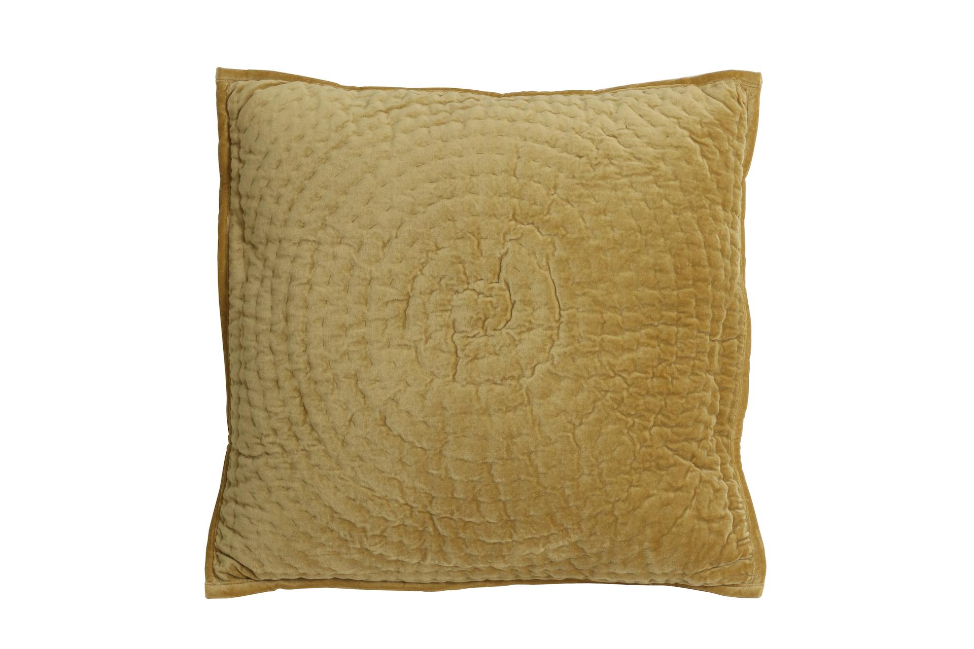 Gold Velvet Cushion Circle