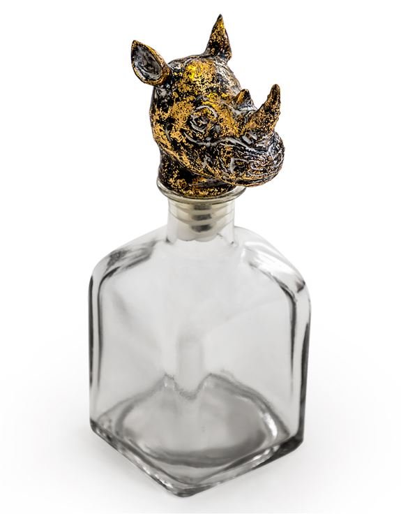 Rhino Head Decanter Bottle