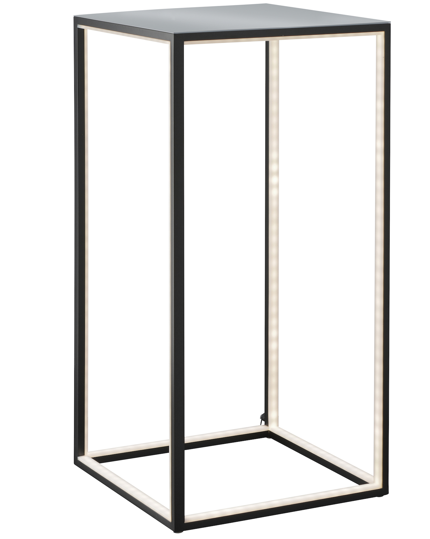 Tall Lamp Table Black