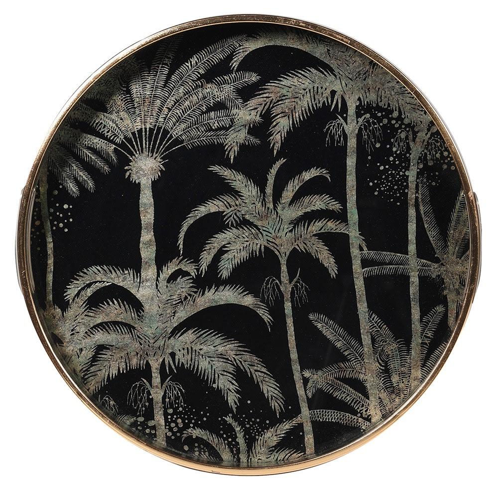 Palm Tree Round Tray