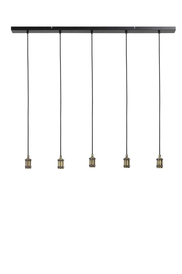 Hanging Metal Pendant Fitting with 5 Drops