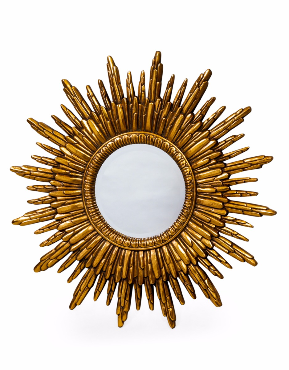 Antique Gold Sun Mirror