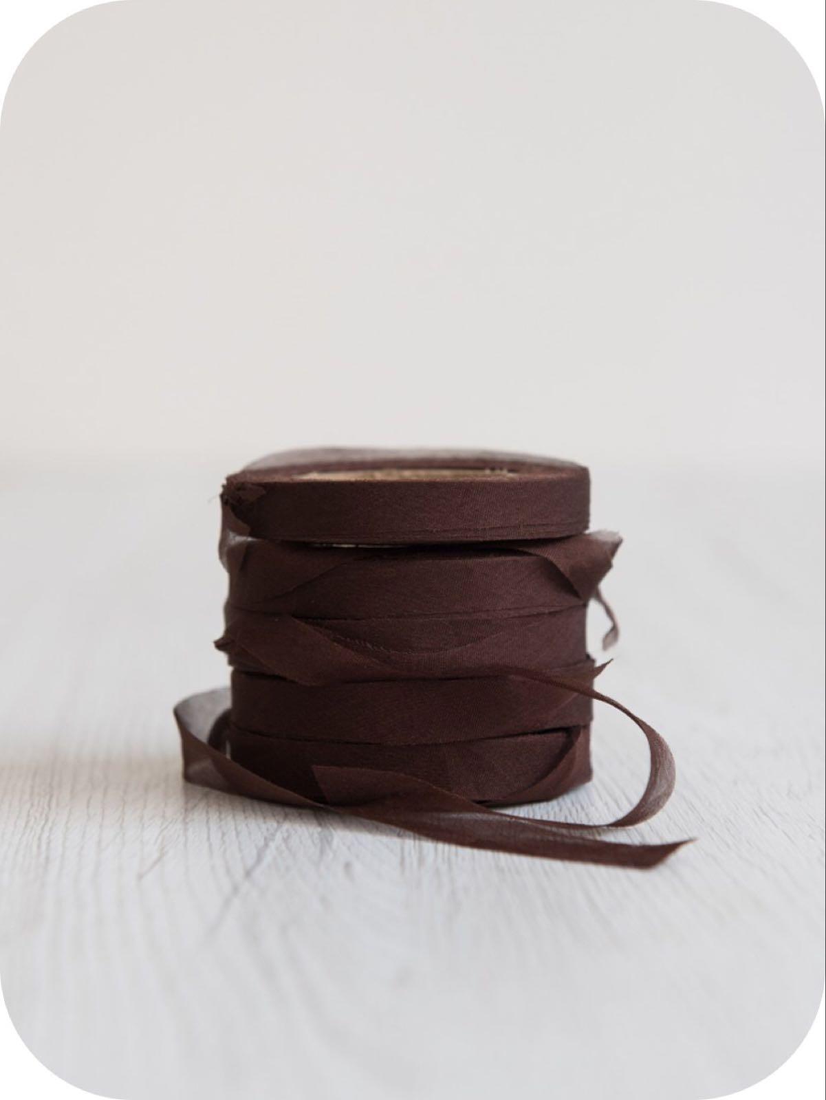 """Chiffong band 2 cm """"Chocolate"""""""