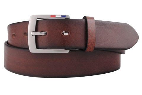 Bosswik læder bælte brun 6769