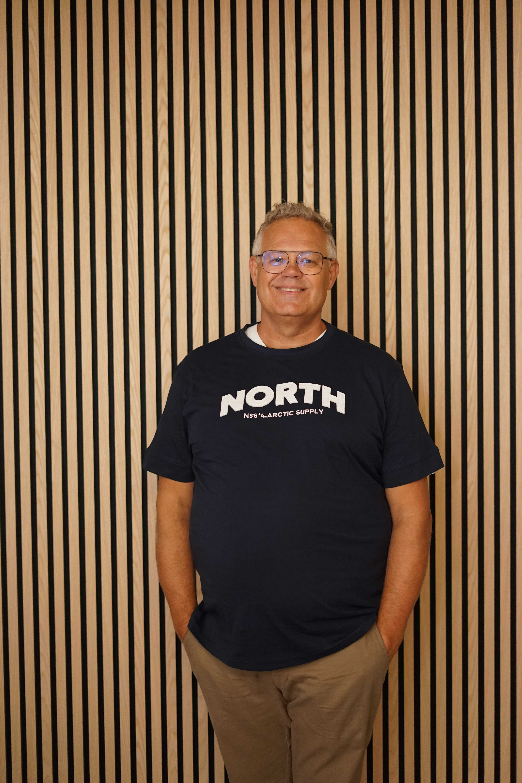 North 56˚4 t-shirt blå 13120/580